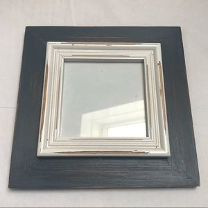 Blue and White Wood Vintage Picture Frame